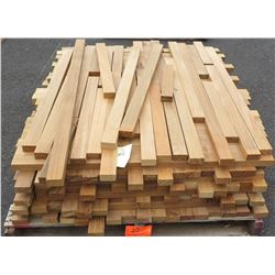 "Teak Bundle, 115 Total Board Ft, 1"" x 4' Ave Per Piece"