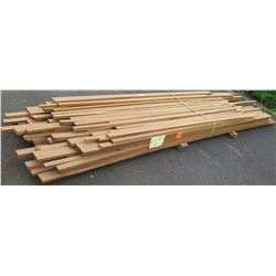 "Iroko Bundle, 312 Total Board Ft, 1"" x 4' Ave Per Piece"