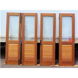 Teak Four Panel Door