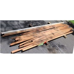 "African Mahogany Bundle, 25 Total Board Ft, 1"" x 10' Ave per Piece"