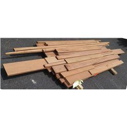 "Sapele Bundle, 70 Total Board Ft, 1"" & 2"" x 7' Ave Per Piece"