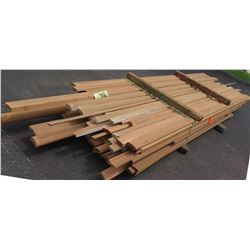 Fir Wood Bundle: Handrail, Rail Cap, Base Rail, Trims, Approx. 120 LF, 12' Ave Per Piece