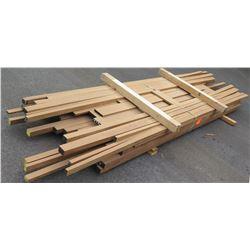 """Sapele, Afrormosia Bundle, 80 Total Board Ft, 2"""" x 12' Ave Per Piece"""