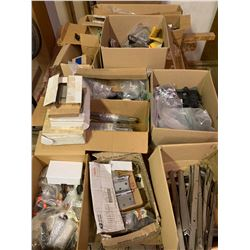 Door and Window Hardware: Hinges, locksets,operators, flush bolts, guides. Most are new old stock