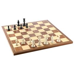 Lot # 460: Bobby Fish's Chess Board and Chess Pieces
