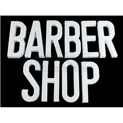 Lot # 469: Pop's 'BARBER SHOP' Block Letters