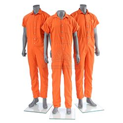 Lot # 488: Three Seagate Prison Jumpsuits