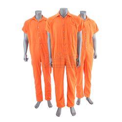 Lot # 492: Three Seagate Prison Jumpsuits