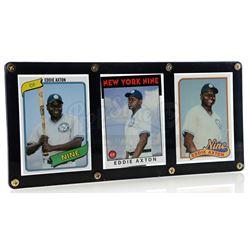 Lot # 504: Eddie Axton Framed Baseball Cards