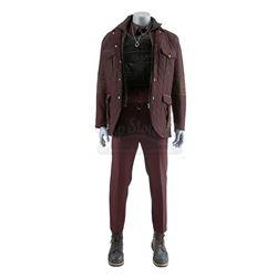 Lot # 537: Willis 'Diamondback' Stryker's Burgundy Combat Costume