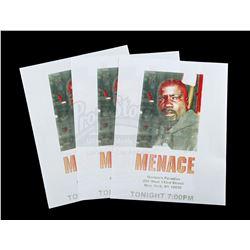 Lot # 545: Set of Three 'Luke Cage Menace' Flyers