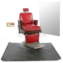 Lot # 570: Pop's Barber Shop Chair and Accessories