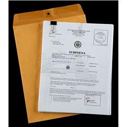 Lot # 612: Luke Cage's Subpoena Packet