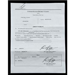 Lot # 634: Deputy Chief Ridley's Arrest Warrant