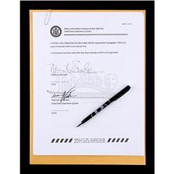 Lot # 637: Mariah Dillard's Signed Immunity Deal