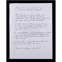 Lot # 649: Mariah DIllard's Will