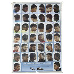 Lot # 651: Pop's Barber Shop Haircut Styles Poster