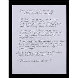 Lot # 657: Mariah DIllard's Will