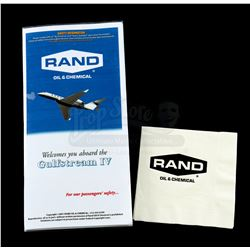 Lot # 687: Rand Enterprises Airline Safety Brochure and Rand Branded Napkin