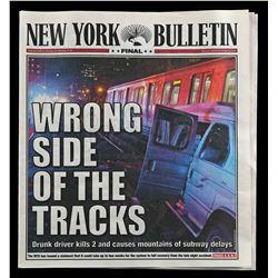 Lot # 703: Ward Meachum's New York Bulletin Newspaper