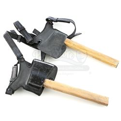 Lot # 704: Pair of Yangsi Gonshi Hatchets with Holster