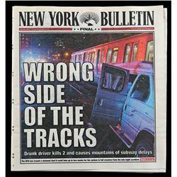 Lot # 706: Ward Meachum's New York Bulletin Newspaper