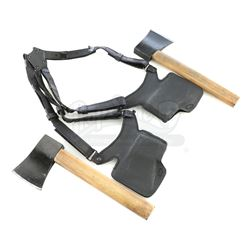 Lot # 708: Pair of Yangsi Gonshi Hatchets with Holster