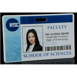 Lot # 720: Alessa Geomi's Faculty ID Card