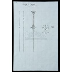 Lot # 722: The Bride of Nine Spiders Dagger Concept Drawing