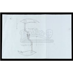 Lot # 733: Scythe's War Scythe Concept Drawing
