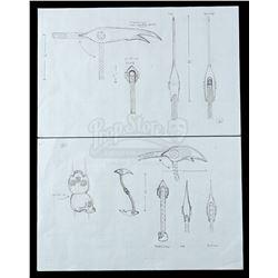 Lot # 738: Pair of Scythe's War Scythe Concept Drawings