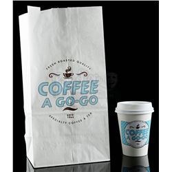 Lot # 812: Coffee A Go-Go Cup and Bag