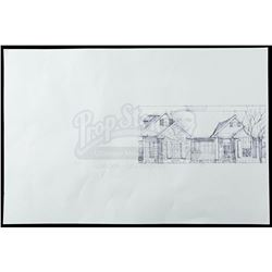 Lot # 822: Mary Walker's House Drawing