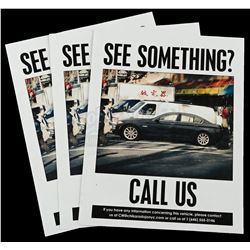 Lot # 874: Three 'See Something? Call Us' Flyers