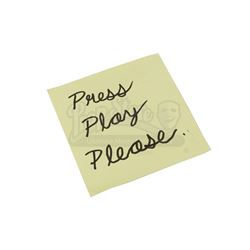 Lot # 875: Mary Walker's Press Play Sticky Note