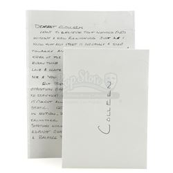 Lot # 891: Colleen Wing's Letter