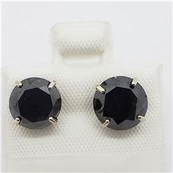 14K BLACK DIAMOND (4.5ct) EARRINGS