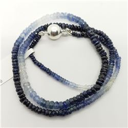 SAPPHIRE NECKLACE & EARRING LOT: