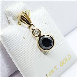 BLACK DIAMOND PENDANT & RING LOT: