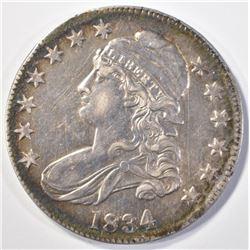 1834 BUST HALF DOLLAR CH AU TONED