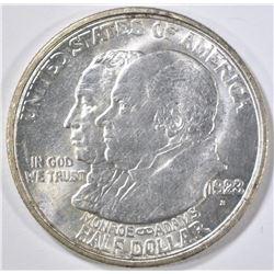 1923-S MONROE COMMEM HALF DOLLAR BU