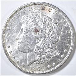 1879-O MORGAN DOLLAR BU MARK ON OBV.