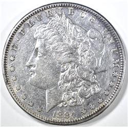 1884-S MORGAN DOLLAR AU