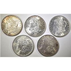 5 CH BU MORGAN DOLLARS