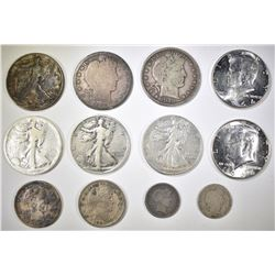 MIXED LOT OF 12 COINS