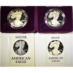 1986 & 87 PROOF AMERICAN SILVER EAGLES