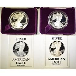 1988 & 89 PROOF AMERICAN SILVER EAGLES
