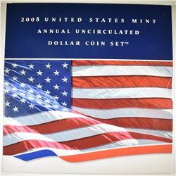 2008 U.S. MINT ANNUAL UNC DOLLAR SET