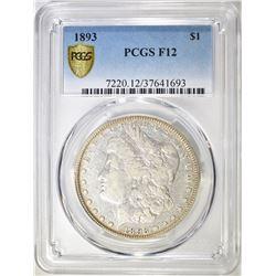 1893 MORGAN DOLLAR  PCGS F12