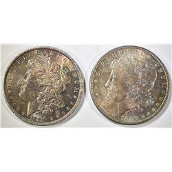 1886 & 1890 MORGAN DOLLARS   BOTH WITH TONING